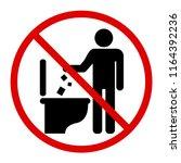 do not litter in toilet icon.... | Shutterstock .eps vector #1164392236