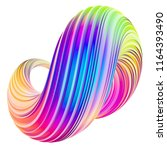 holographic abstract twisted... | Shutterstock . vector #1164393490
