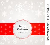 christmas card template design... | Shutterstock .eps vector #116439370
