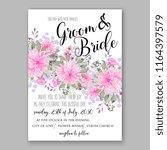 pink chrysanthemum floral...   Shutterstock .eps vector #1164397579