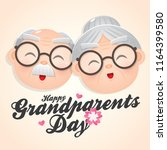happy grandparents day greeting ... | Shutterstock .eps vector #1164399580
