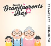 happy grandparents day greeting ... | Shutterstock .eps vector #1164399583