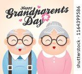 happy grandparents day greeting ...   Shutterstock .eps vector #1164399586