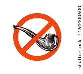 stop smoking vector sign with... | Shutterstock .eps vector #1164400600