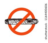 no smoking vector icon with... | Shutterstock .eps vector #1164400606
