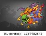 evil in blaze cartoon... | Shutterstock .eps vector #1164402643