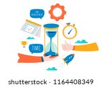 time management  planning... | Shutterstock .eps vector #1164408349