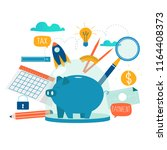 business and finance services ... | Shutterstock .eps vector #1164408373