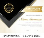 diploma certificate template... | Shutterstock .eps vector #1164411583