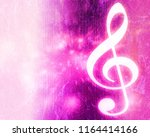 musical abstract colorful... | Shutterstock . vector #1164414166