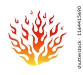 cartoon fire flame flammable... | Shutterstock .eps vector #1164415690