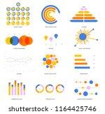 business data visualisation... | Shutterstock .eps vector #1164425746