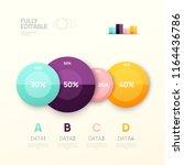business infographic design...   Shutterstock .eps vector #1164436786
