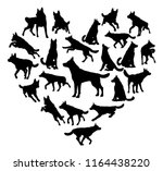 a german shepard alsatian or... | Shutterstock .eps vector #1164438220