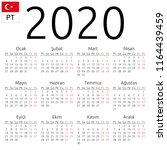 simple annual 2020 year wall... | Shutterstock .eps vector #1164439459