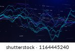 stock market graph investment... | Shutterstock . vector #1164445240