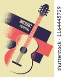 music background with acoustic... | Shutterstock .eps vector #1164445729