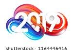 vector illustration  happy new... | Shutterstock .eps vector #1164446416