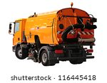 street sweeper with the vacuum... | Shutterstock . vector #116445418