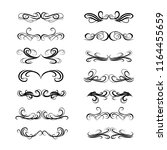 decorative monograms and... | Shutterstock .eps vector #1164455659