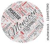 vector conceptual monsoon... | Shutterstock .eps vector #1164457090