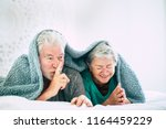 nice happy aged mature couple... | Shutterstock . vector #1164459229