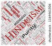 vector conceptual hinduism ... | Shutterstock .eps vector #1164461506