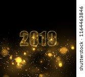 eps 10 2019 sparkling gold... | Shutterstock .eps vector #1164463846