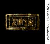 eps 10 2019 sparkling gold... | Shutterstock .eps vector #1164465649