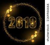 eps 10 2019 sparkling gold... | Shutterstock .eps vector #1164466666