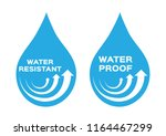 water resistant and proof logo  ... | Shutterstock .eps vector #1164467299
