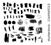 set of ink blots  lines ... | Shutterstock .eps vector #1164469213