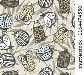 cartoon seamless pattern with... | Shutterstock .eps vector #1164474550