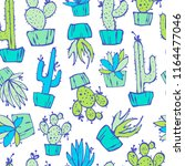 cartoon seamless pattern with... | Shutterstock .eps vector #1164477046
