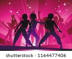 Dancing Disco People. Elegant...