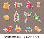 baby toy stickers   Shutterstock .eps vector #116447776