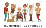 disabled people group. invalid... | Shutterstock .eps vector #1164485176