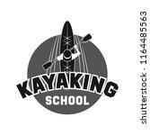 canoeing and kayaking sport... | Shutterstock .eps vector #1164485563