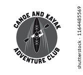canoeing and kayaking sport... | Shutterstock .eps vector #1164485569