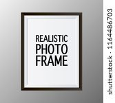 realistic picture frame... | Shutterstock .eps vector #1164486703
