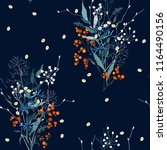 botanical motifs. isolated... | Shutterstock .eps vector #1164490156