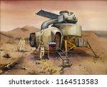 russian descent module landing... | Shutterstock . vector #1164513583