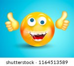 happy smiling with white... | Shutterstock .eps vector #1164513589
