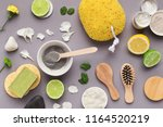 preparing cosmetic black mask... | Shutterstock . vector #1164520219