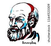 democritus engraved vector... | Shutterstock .eps vector #1164523309