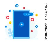 concept of video marketing ... | Shutterstock .eps vector #1164525163
