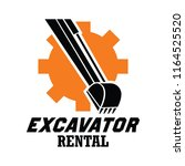 excavator   excavation logo ... | Shutterstock .eps vector #1164525520