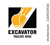 excavator   excavation logo ... | Shutterstock .eps vector #1164525526