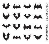 vampire bat silhouette.... | Shutterstock .eps vector #1164529780