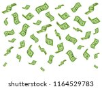 falling banknotes. wealth money ... | Shutterstock .eps vector #1164529783